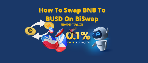 How to Swap BNB Tokens for BUSD via BiSwap